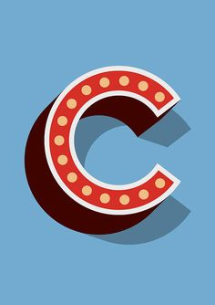 Big Circus Marquee Letter Print