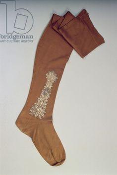 Man's Stocking, c.1720 (silk)
