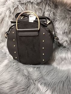 Details about Primark Ladies Black Circle Saddle Crossbody Handbag Inspired  by Meghan Markle b439884f36d55