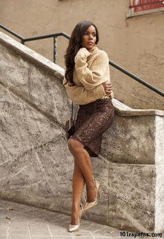 Zapatos para Usar con Falda Sequin Skirt, Sequins, Skirts, Fashion, Fashion Shoes, Trends, Moda, Fashion Styles, Skirt