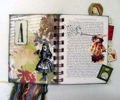 Little Alice in Wonderland book - PAPER CRAFTS, SCRAPBOOKING & ATCs (ARTIST TRADING CARDS)
