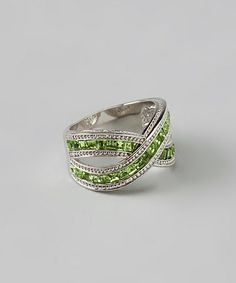 Another great find on #zulily! Silver & Peridot Crisscross Ring #zulilyfinds