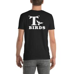 675773d10 Mens 1950s Costume Shirt For Sock Hop Dance Or 1950s Party 1950s Costume Shirt  T-Birds Back Graphics