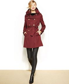 MICHAEL Michael Kors Removable-Liner Trench Coat Need this coat!!