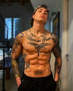 Tattoos Torso, Best Sleeve Tattoos, Tattoo Sleeve Designs, Forearm Tattoos, Tattoo Designs Men, Abdomen Tattoo, Front Neck Tattoo, Neck Tattoo For Guys, Leg Tattoo Men