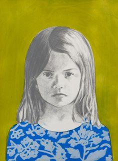 Girl 1, Light Green, Blue