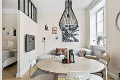 60 DIY Small Apartment Decorating Ideas on A Budget - Homemainly Small Apartment Decorating, Apartment Design, Apartment Living, Small Living Rooms, Living Room Designs, Living Spaces, Deco Studio, Gravity Home, Small Studio Apartments