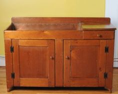 """Copper insert to sink, single drawer over two blind doors. H: approx. 31"""" W: approx. 49 1/2"""" D: approx. 20 1/2""""."""