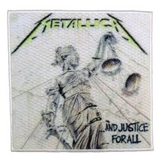 Metallica ...And Justice for All Stick-On Patch == $8.99