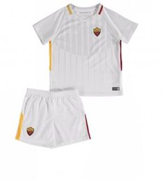 2017 Cheap Youth Kit AS Roma Away Replica White Suit [AFC605]