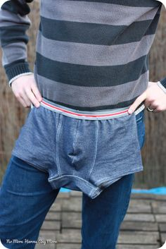 """Two great pairs of trunks with striped elastic - blogged about at """"No More Heroes Any More"""" and nicely photographed. Trunks, Pairs, Fashion, Drift Wood, Moda, La Mode, Fasion, Fashion Models, Trendy Fashion"""