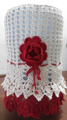 Capa de galão de água Crochet Art, Crochet Home, Crochet Doilies, Crochet Flowers, Crotchet Patterns, Doily Patterns, Knitting Patterns, Flower Patterns, Crochet Symbols