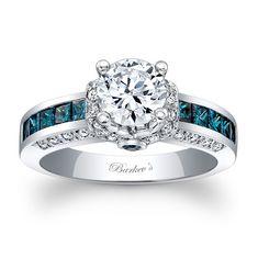 Blue Diamond Engagement Ring - Blue Diamond Engagement Ring