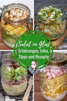 Salad in a glass - experiences, recipes, information and tips - make Salat im Glas – Erfahrungen, Rezepte, Infos und Tipps – MakeItSweet.de Salad in a glass – Experience report Recipes Preparations Information Preparation correctly Layers Tips Recipe - Lunch Snacks, Lunch Recipes, Paleo Recipes, Dinner Recipes, Food To Go, Food And Drink, Recetas Salvadorenas, Salad In A Jar, Lunch To Go