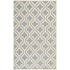 Safavieh Handmade Cotton-Backed Cambridge Moroccan Silver Wool Rug (5' x 8') - Overstock™ Shopping - Great Deals on Safavieh 5x8 - 6x9 Rugs