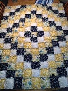 Puffy Rag Quilt- Around the world pattern I think!