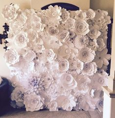 Paper Flower Wall custom and handmade to order. 10 Can be image 3 Paper Flower Backdrop Wedding, Flower Wall Wedding, Flower Wall Backdrop, Wall Backdrops, Paper Flower Wall, Paper Flowers Diy, Handmade Flowers, Wedding Venue Decorations, Sunflower Design