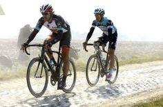 Fabian Cancellara and Zdenek Stybar escape in Paris-Roubaix