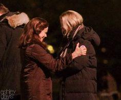 JMO and Barbara Hershey on set - 04 Nov 2015