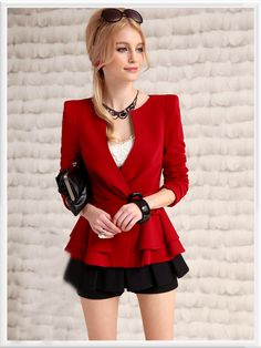 Morpheus Boutique  - Red Deep V Long Sleeve Layer Jacket, $108.99 (http://www.morpheusboutique.com/red-deep-v-long-sleeve-layer-jacket/)