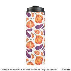 Classic Blankets, Eggplants, Eggplant Purple, Tumblers, Pumpkins, Travel Mug, Water Bottle, Orange, Mugs