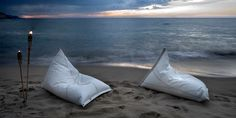 "Cool ""beanbags"" out of used sails from a company called Dvelas."