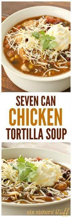 Seven Can Chicken Tortilla Soup | Six Sisters' Stuff | Bloglovin'