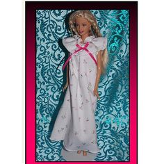 Pink Rosebud Nightgown. Fashion Doll Clothes for 11 to