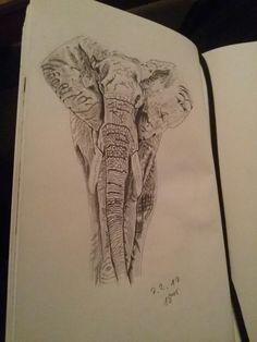 Mein erster Elefant im Skizzenbuch