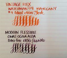 GoPens. Vintage Flex vs. Modern Flex