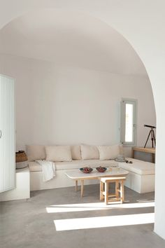 ! barefootstyling.com  Greek apartments by Kapsimalis Architects enjoy sweeping views of Aegean Sea
