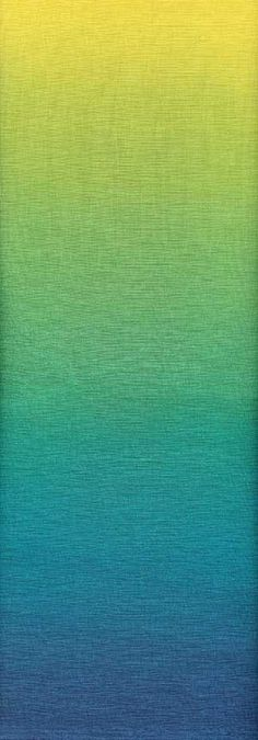 Ombre Gradating Colors Yellow to Blue Fabric 1 yard LAST IN STOCK