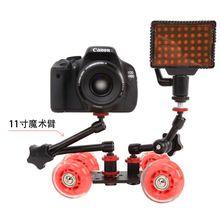 4 колеса рабочего камеры DSLR фотография рельсовый путь слайдер таблица долли автомобилей Red Hot(China (Mainland))