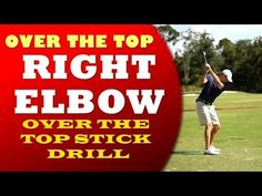 Over the Top Golf Swing Cure - Right Elbow Tip - YouTube