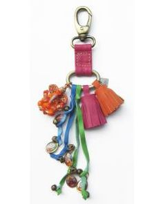 New Pink Grigri Leather Ganesh Key Chain