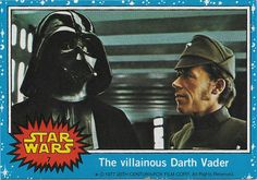 62 1977 Topps Star Wars Blue Lord Vader/'s stormtroopers No