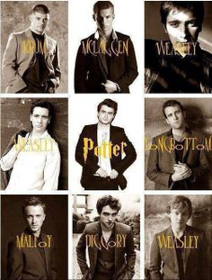 Yup most wizards turn up handsome.  So much Weasley hotness