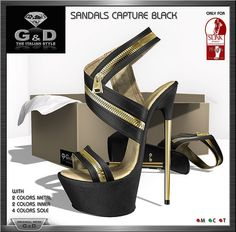 Sandals Capture 10 colors and FatPack