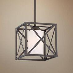 "Possini Euro Isak 8 1/4"" Wide Bronze Mini Pendant Light"