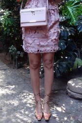 Boudoir des Lubies  #leopard #animal #print #roses  #pink# brown #wiwt #ootd #bag #heels #lunch #dress #coat #shoes #highheels #summer #fall