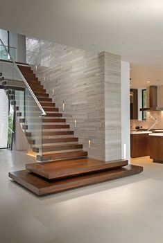 Stair Railing Design, Home Stairs Design, Home Interior Design, Stairs Colours, Balcony Grill Design, Modern Villa Design, Beautiful Stairs, Contemporary Stairs, Floating Stairs