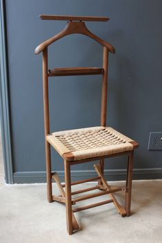 chair valet stand. view this item and discover similar chairs for sale at - wonderful vintage wood folding valet chair with the original woven caned seat. stand