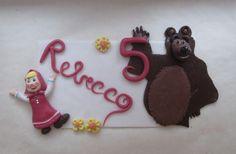 STELLEDILATTA: Deco-torta Masha e orso