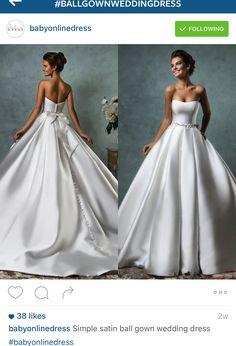Trendy wedding dresses satin ballgown simple - Imprimir - Dresses for Wedding Wedding Gown Ballgown, Satin Mermaid Wedding Dress, V Neck Wedding Dress, Sexy Wedding Dresses, Princess Wedding Dresses, Bridal Dresses, Wedding Gowns, Wedding Hair, Lego Design