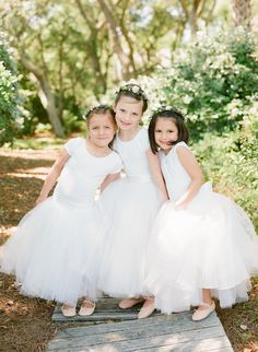 Tiny ballerina inspired flower girls: http://www.stylemepretty.com/2016/02/22/ballerina-chic-from-top-knot-to-toes/