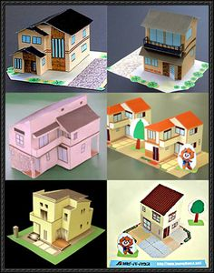 Six Japanese House Paper Models Free Download - http://www.papercraftsquare.com/six-japanese-house-paper-models-free-download.html