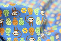 [FREE SHIPPING NOW] k245 - monkeys - cotton fabrics - Half Yard ( 3 color to choose )  https://www.etsy.com/listing/156608372/k245-monkeys-cotton-fabrics-half-yard-3?ref=shop_home_active