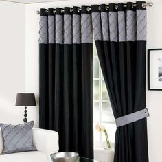 Our black eyelet curtains will provide your home with a stylish way to dress…