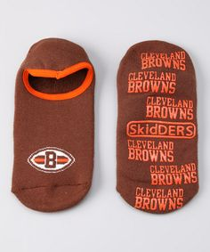 Take a look at this Brown Cleveland Browns Gripper Socks by NFL Fan Zone Collection on @zulily today!