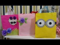 Aula 20 - Como fazer bolsas de papel de seda - Muito baratas e resistentes! - YouTube